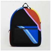 happy hues black backpack
