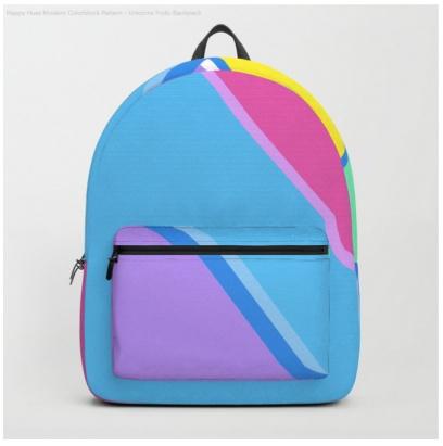 unicorns frolic backpack